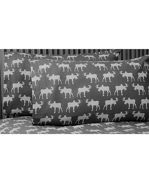 La Rochelle Moose Heather Ground Flannel Sheet Set King
