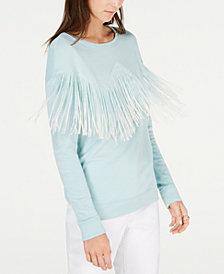 I.N.C. Dip-Dye Fringe Sweatshirt, Created for Macy's