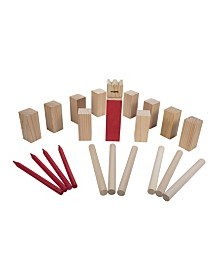 Triumph Kubb Viking Chess Outdoor Wooden Game Set Combines Bowling and Horseshoes for Players of All Ages
