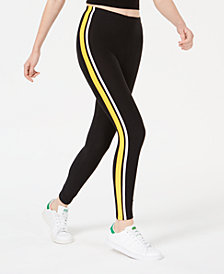 Planet Gold Juniors' Striped Mid-Rise Leggings