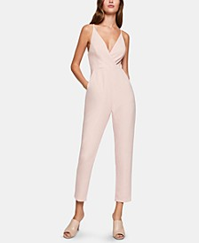 Surplice Cross-Back Jumpsuit