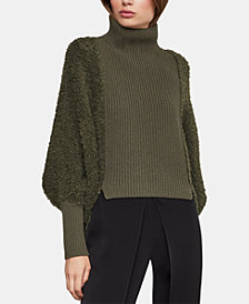 BCBGMAXAZRIA Juliette-Sleeve Turtleneck Sweater