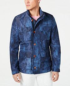 Tallia Men's Slim-Fit Graphic Raincoat
