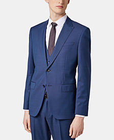 BOSS Men's Slim Fit Three-Piece Virgin Wool Suit