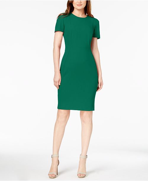 Calvin Klein Petite Short-Sleeve Sheath Dress
