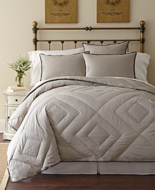 Vintage Wash Down Alternative Comforter, 300 Thread Count Cotton Collection