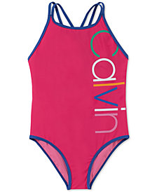 Calvin Klein Big Girls 1-Pc. Logo Swimsuit