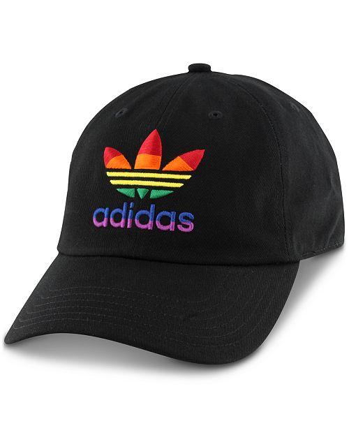ccb45de75fd adidas Men s Relaxed Rainbow-Logo Hat - Hats