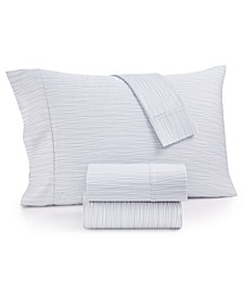 CLOSEOUT! Modernist Printed Wavy Stripe 4-Pc. King Sheet Set, 750-Thread Count Cotton Blend, Created for Macy's