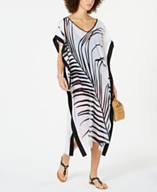 7ed639026b Calvin Klein Printed Bandeau Halter One-Piece Swimsuit & Reviews ...