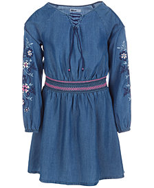 Epic Threads Little Girls Embroidered Cold Shoulder Dress, Created for Macy's