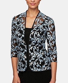 Floral Embroidered Jacket & Top