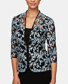 Alex Evenings Embroidered Jacket & Top