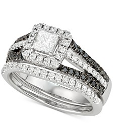 Diamond Princess Bridal Set (1-1/10 ct. t.w.) in 14k White Gold