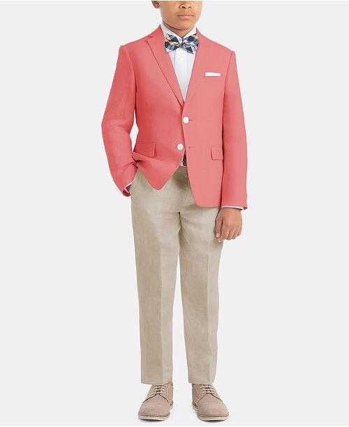 c58a9545108ed Little & Big Boys Cool Linen Suit Jacket & Pants Separates