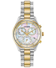 Eco-Drive Women's Chandler Two-Tone Stainless Steel Bracelet Watch 32mm