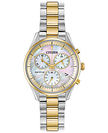 Citizen Eco-Drive Women's Chandler Two-Tone Stainless Steel Bracelet Watch 32mm