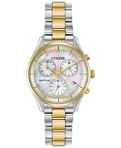 a7ffefd007cd5a Citizen Eco-Drive Women's Chandler Two-Tone Stainless Steel Bracelet Watch  32mm