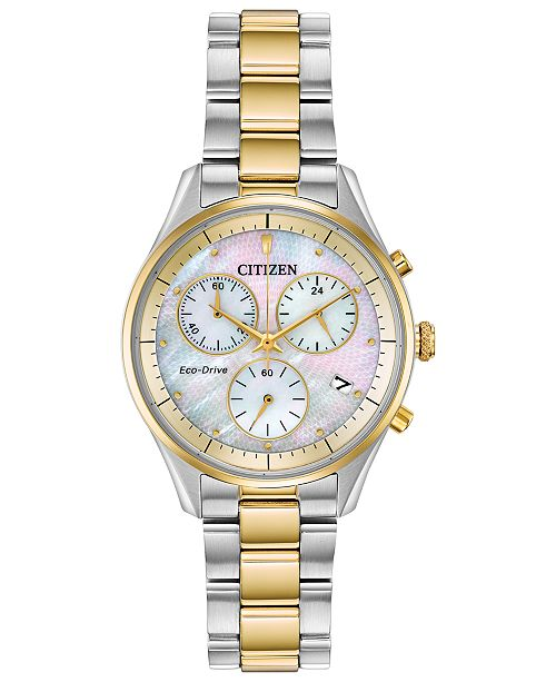 Citizen Eco-Drive Women's Chandler Two-Tone Stainless Steel Bracelet Watch 32mm