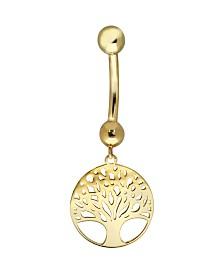 Bodifine 10K Gold Family Tree Belly Bar