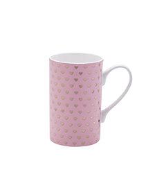 Mikasa Pink Gold Hearts Mug