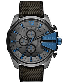 Men's Chronograph Mega Chief Gray Nylon Strap Watch 51mm