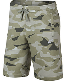 Nike Men's Sportswear Camo Fleece Shorts