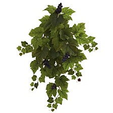 "31"" Grape Hanging Leaf Artificial Plant, Set of 2"