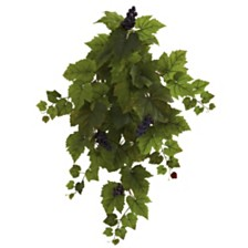 """Nearly Natural 31"""" Grape Hanging Leaf Artificial Plant, Set of 2"""
