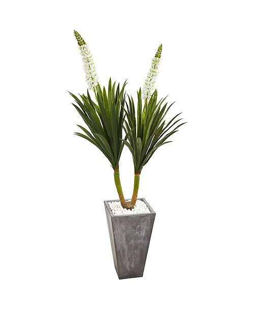 Nearly Natural 6' Yucca Artificial Plant in Cement Planter