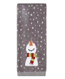 Happy Snowman 2-Pc. Hand Towel Set