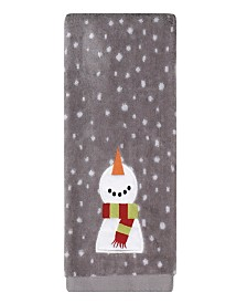 Happy Snowman 2-Pc. Hand Towel Set