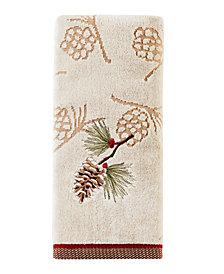 Snowy Pinecone 2-Pc. Hand Towel Set