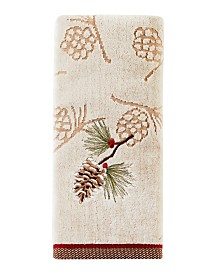 Snowy Pinecone 2-Pc. Hand Towel Set