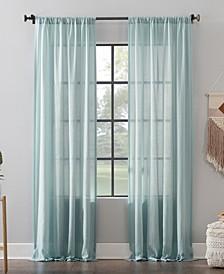 "Leno Weave Stripe Anti-Dust Curtain Panel, 52"" x 63"""