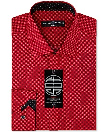 Society of Threads Men's Slim-Fit Non-Iron Performance X-Check Dress Shirt