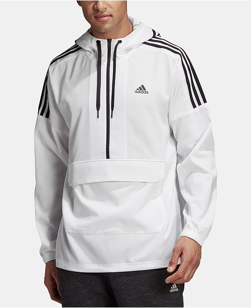 adidas Men's Sport ID Half-Zip Hooded Jacket