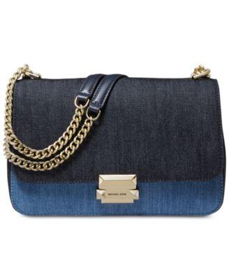 Denim Sloan Chain Shoulder Bag, Created for Macy's