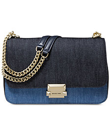 MICHAEL Michael Kors Denim Sloan Chain Shoulder Bag, Created for Macy's