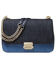 MICHAEL Michael Kors Denim Sloan Chain Shoulder Bag, Created for Macy's