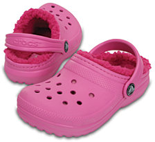 Crocs Classic Clogs with Faux-Fur Lining, Toddler Girls & Little Girls