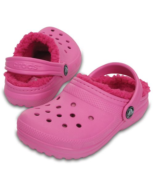 e3c75599e1495e ... Crocs Classic Clogs with Faux-Fur Lining
