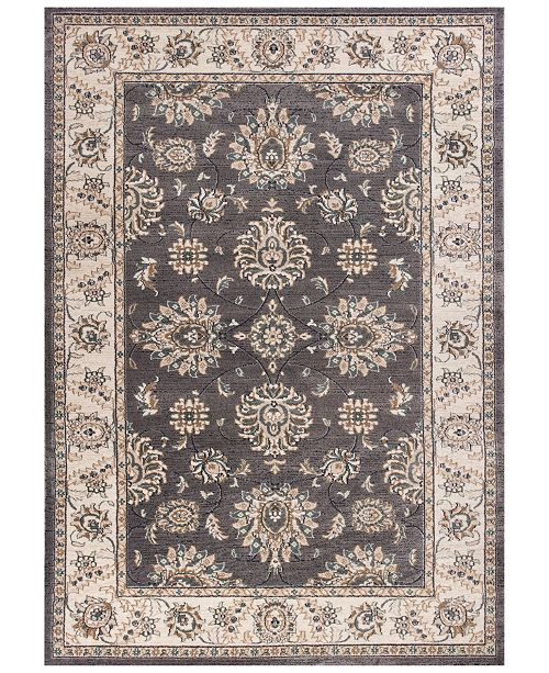 "Kas Avalon Kashan 5608 Grey/Ivory 7'10"" x 9'10"" Area Rug"