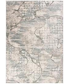 "Crete Visions 6514 Ivory/Mist 2'2"" x 6'11"" Runner Area Rug"