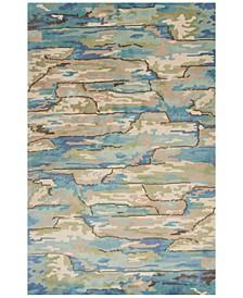 CLOSEOUT! Whisper Landscapes 3002 Beige/Blue 5' x 8' Area Rug