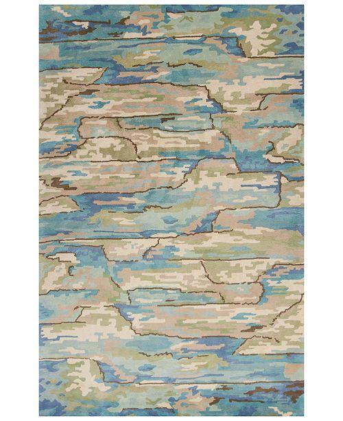 Kas CLOSEOUT! Whisper Landscapes 3002 Beige/Blue 5' x 8' Area Rug