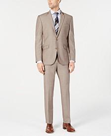 Men's Big & Tall Ready Flex Slim-Fit Stretch Tan Suit