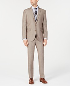Kenneth Cole Reaction Men's Techni-Cole Slim-Fit Stretch Tan Suit