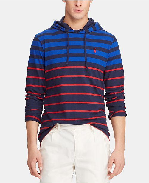 Polo Ralph Lauren Men's Striped  Hooded T-Shirt
