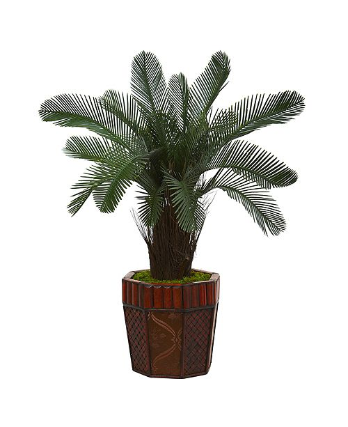 Nearly Natural 3' Cycas Artificial Tree in Bamboo Planter